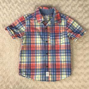 Carter's Button Down Shirt Boy's Size 4T Plaid